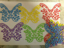 Die Cut Butterflies with Flowers FOAM  Qty 10 - 11.5x8cms  2 x Assorted Colours