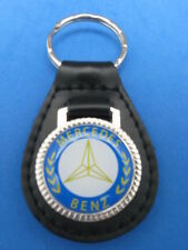 MERCEDES AUTO LEATHER KEYCHAIN KEY CHAIN RING FOB #040