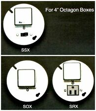 """BUSSMANN Box Cover Unit SSX for Plug Fuses 4"""" Octagon 15A 125V NOS New Old Stock"""