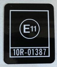 """KAWASAKI Z650 Z650F """"E11"""" HEADSTOCK CAUTION WARNING DECAL"""