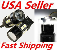 2X White T20 10W 7440 7443 Cree Q5 Optical Projector 12SMD LED Brake Tail Light
