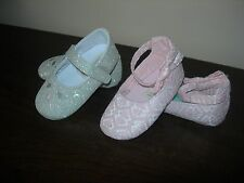MONSOON BABY GIRL TODDLER SLIPPERS 12-18 MONTHS SET OF 2 PAIRS VERY STYLISH