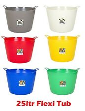 25 Litre Plastic Flexible Storage Flexi Tub  / Buckets / Container - Pack Of 3