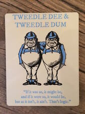 ALICE IN WONDERLAND COASTER: TWEEDLE DEE AND TWEEDLE DUM - NEW IN CELLO