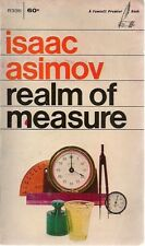 REALM OF MEASURES by Isaac Asimov (1968) Fawcett illustrated pb