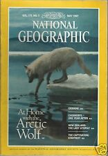 National Geographic Magazine May 1987 Arctic Wolf Ukraine Chernobyl Kiwifruit
