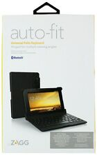 Zagg Auto-Fit Universal Folio Keyboard HInged For Multiple Viewing Angles Fits S