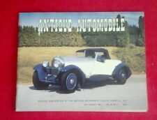 VINTAGE ANTIQUE AUTOMOBILE CLUB OF AMERICA JULY-AUGUST 1982 BENTLEY FORD PACKARD