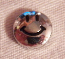 Smiley Face Floating Locket Charm - Silver-tone - NEW