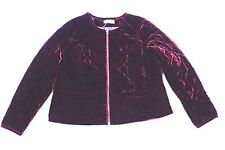 M&S Marks And Spencer Women PerUna Dark Purple Velvet Jacket Party Size 16