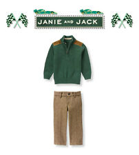 "Janie and Jack baby boy ""Auto Club"" Collection 2 Piece Set NWT 2T"