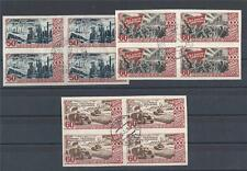 Russia 1947 Sc# 1184-86 Revolution Industry Soldiers Agriculture blocks 4 NH CTO