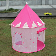 Portable Kid Girl Princess Castle Pink Tent Outdoor Indoor Universal With Pop Up