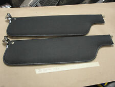 OEM 70 Cadillac Calais GM MATCHED PAIR SUN VISORS SET W/ HINGES & MIRROR - BLACK