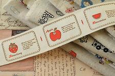 ETICHETTE di Frutta Cotone Nastro 3m Cartoon Stampa Zakka cucito nastro Craft Tessuto Trim