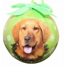 GOLDEN RETRIEVER ~ CHRISTMAS BALL ORNAMENT  #15