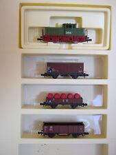 Minitrix N 11086 Diesel + 3 Wagen Industriezug (RG/BH/55S2)