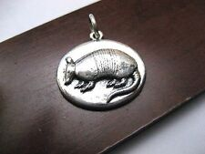 Rare James Avery Retired Armadillo Charm or Pendant Oval Shaped Sterling Silver