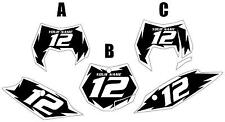 2011-2012 KTM 350SX-F Custom Pre-Printed Black Backgrounds White Shock Series
