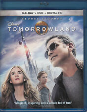 Tomorrowland (Blu-ray/DVD, 2015, 2-Disc Set, no Digital Copy) VG