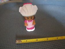 Fisher Price Little People Mia Girl bike helmet school bus ice cream pink town