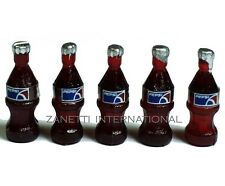 Set of 5 Dollhouse Miniature Pepsi Bottles * Doll Mini Food Drink Tiny Soda Cola
