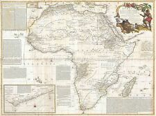 GEOGRAPHY MAP ILLUSTRATED ANTIQUE BOULTON SAYER WALL AFRICA POSTER PRINT BB4273A