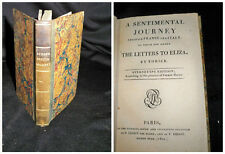 Sentimental journey Through France and Italy - The Letters to Eliza - Paris 1800