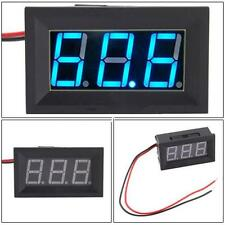 DC4.5-30V 2 Wire Blue LED Panel LED Display Voltage Meter Voltmeter