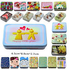 New Metal Jars Small Tin Storage Box Jewelry vintage Icon Rectangular Gift Case