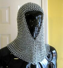 Chain Mail Chainmail Medieval Renaissance Armor Adult Steel Coif