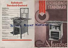 ESCHEBACH, Prospekt um 1932, Eschebach Standard Gasherde