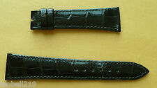 AUDEMARS PIGUET OEM 22MM DARK BROWN CROCODILE WATCH STRAP HAND STICHTED