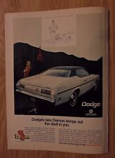 1970 Print Ad  Dodge Demon Muscle Car Automobile ~ Brings Out the Devil In You