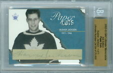 2002-03 BAP BUSHER JACKSON 1/1 AUTO HOF PAPER CUTS ULTIMATE 3RD EDITION LEAFS