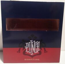 "Solid Wood Empty Cigar Box - Multicolor  Punch ""Signature"" Gigante with Viewing"