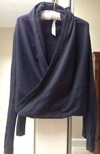Lululemon Iconic Wrap in French Terry ~ Heathered Black ~ Sz 2 ~ EUC