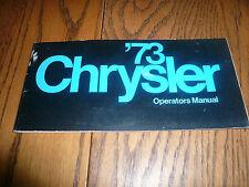 1973 Chrysler Operator's Manual Package - Glove Box - Original OEM