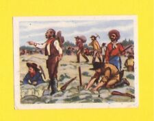 Sitting Bull Vintage Card from Belgium Gold Rush Digging for Gold