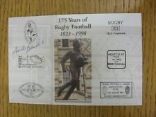 1998 Rugby Postcard: Hand Signed By Blowers, Andy ['175 Years Of Rugby football