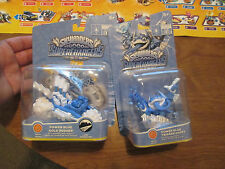 Skylanders SuperChargers Trigger Happy + Gold Rusher POWER BLUE COMPLETE COUPLE