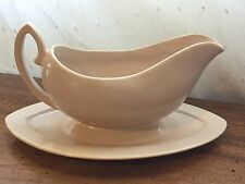 Vintage Pacific Cream Beige Handled Attached Gravy Boat Canoe