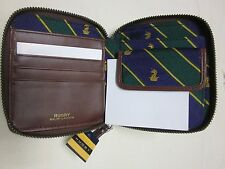 NWT ralph lauren Rugby womens  leather silk wallet clutch polo
