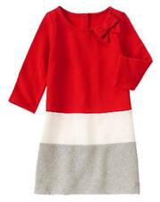 Gymboree Colorbock  Fleece Dress  Holly Berry Red Sz 4