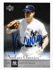 KEVIN MAAS 2004 UPPER DECK YANKEES CLASSICS AUTOGRAPHED SIGNED # 42 YANKEES