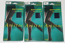 3 Pairs ARISTOC Bodytoners 10 DENIER sheer legs WITH LYCRA Navy Medium/large NEW