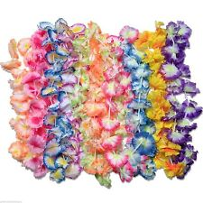 50 pc Hawaiian Lei Assortment Jumbo Silk Flower Luau Party Favor Lot Beach