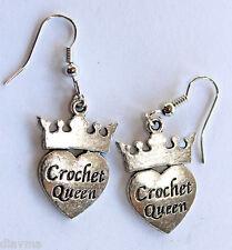 heart crown crochet queen EARRINGS Jewellery