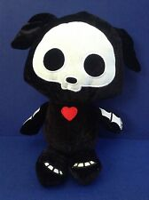 "Skelanimals Plush Black Dax Dog 13"" inch Fiesta Velvety Stuffed Animal"
