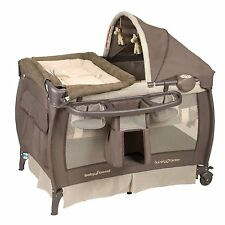 Baby Trend Nursery Center PLAYPEN, Removable Full Bassinet PLAY YARD, Hudson